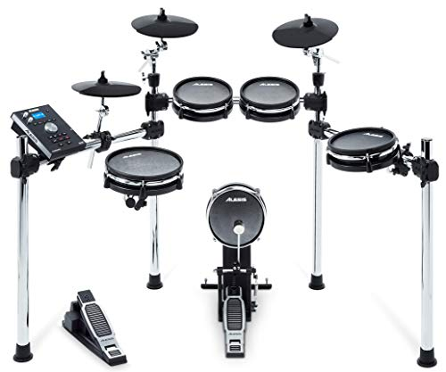 - Alesis Command Mesh Kit|8-Piece Electronic Drum Kit with Mesh Heads, Chrome Rack and Command Drum Module including 70 Kits, 600+ sounds, 60 Backing Tracks, USB Sample Loading and USB/MIDI Connectivity