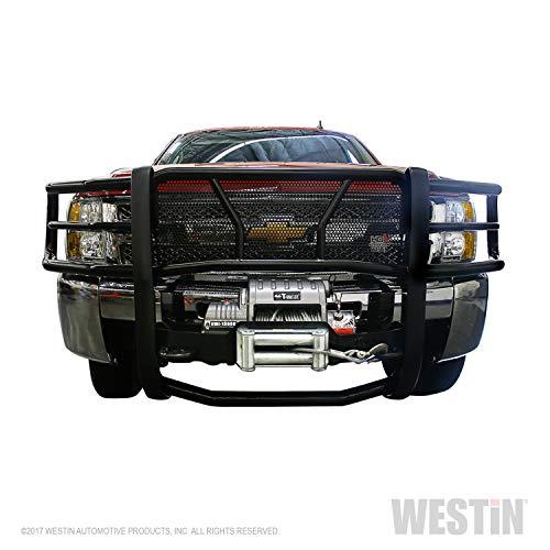 (Westin 40-92275 Sportsman Black Winch Mount Grille Guard)