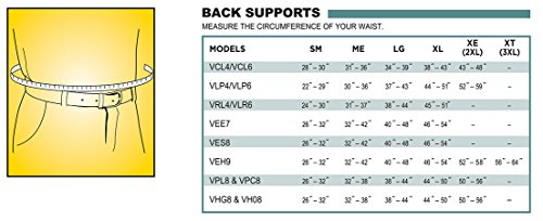Valeo Industrial VEH9 Heavy-Duty 9'' Back Support Elastic Belt, VI4676, Black, Large by Valeo (Image #1)