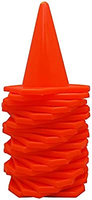 Blue Dot Trading Agility Cones (20-Pack), 4-Inch