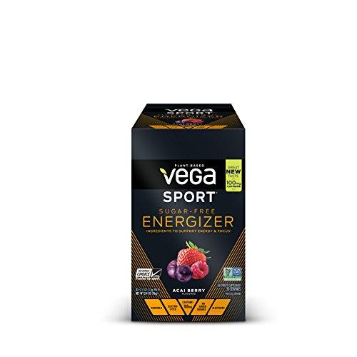 New Vega Sport Sugar Free Energzier Acai Berry (30 Count, 0.11oz) - Vegan,  Keto-Friendly, Gluten Free,  Sugar Free, All Natural, Pre Workout Powder, Non GMO