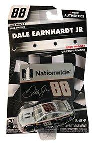 NASCAR Authentics Dale Earnhardt Jr. #88 Diecast Car 1/64 Scale - 2018 Wave 3 - Dale Earnhardt Jr. Nationwide Car with Free Magnet - Collectible