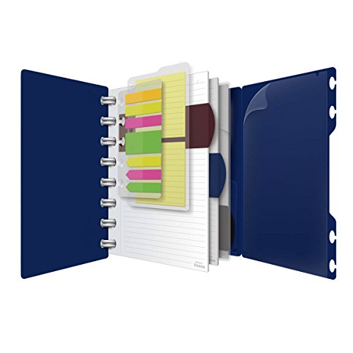 Ampad Versa Crossover Notebook, 6 x 9 Inch Size, Wide-Ruled, Navy, 60 Sheets (25-635)