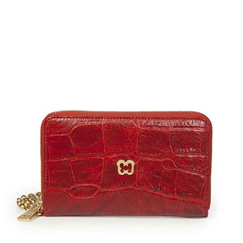 Eric Javits Luxury Fashion Designer Women's Handbag - Smartphone Wristlet - Red by Eric Javits