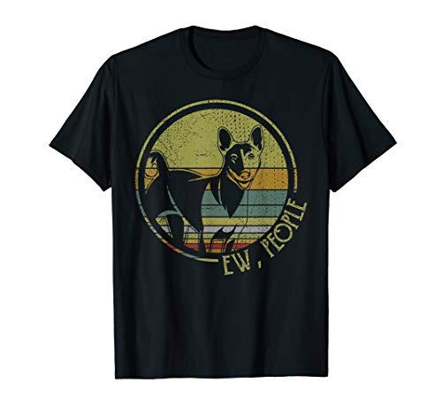 Retro Vintage Ew People Basenjis Tshirt Funny Dog Lover Gift