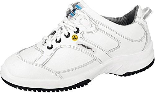 "Abeba 36770-47 talla 47"" Uni6 pulgada ESD-ocupacional zapatos bajo - blanco"