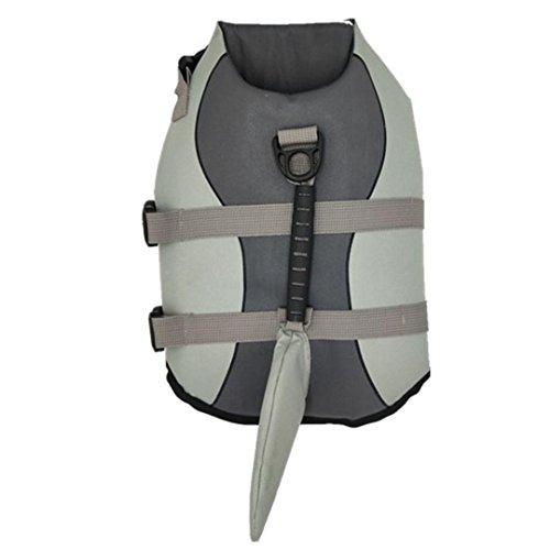 Morecome Pet Life Jacket,Pet Outward Adjustable Dog Life Jacket with Rescue Handle (Back Length:35cm, A) by Morecome pet vest (Image #2)