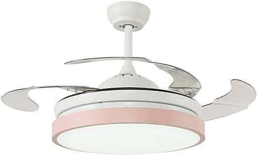ZSC-1201- Ventilador Ventilador de Techo, LED Luz de Techo Cristal ...