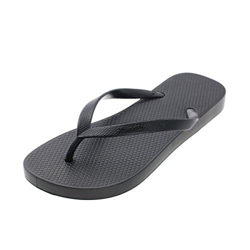 Comfort Memorygou Women Flip for Proof Design Black Flops Men Black Slippers Slim Beach Black Sandal CvUw4q