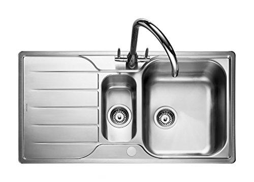 (Rangemaster Michigan Countersunk-Sink Sink, Rectangular, Stainless Steel, Stainless Steel, 1.5Breasts, Rectangular))