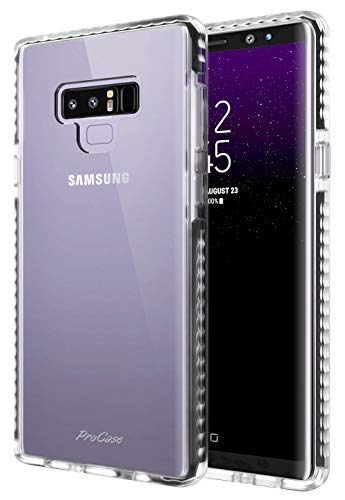 ProCase Clear Case for Galaxy Note 9, Slim Hybrid Clear TPU Transparent Scratch Resistant Rugged Protective Cover Samsung Galaxy Note 9 Case -Clear