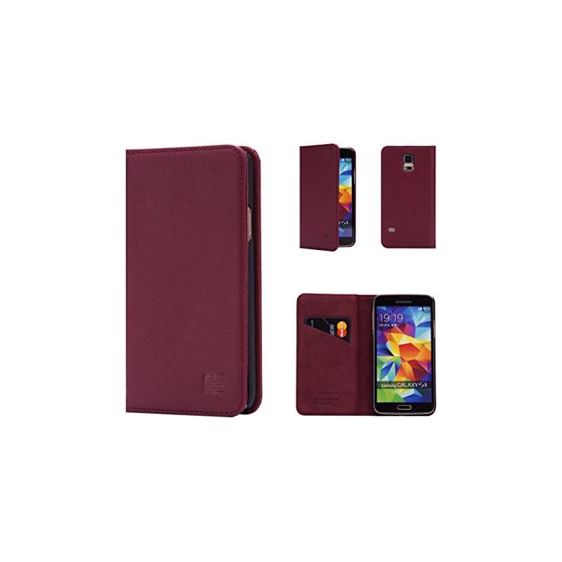 Samsung Galaxy S5 Leather Wallet Case De