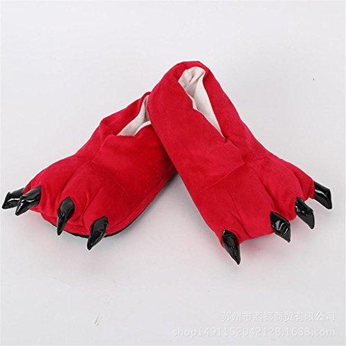 Chaussons Winter Claws Cotton Shoes Hommes et Femmes Cute Children Cartoon Plush Cotton Slippers Home Shoes , 09 , S