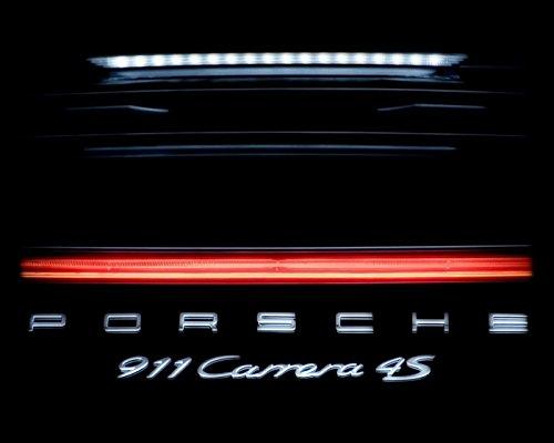 Porsche 911 Carrera 4S Picture, Luxury Sports Car Wall Art