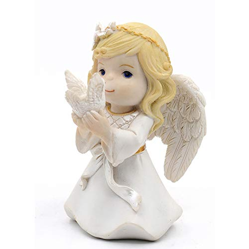 (Kneeling Girl Angel and Peace Dove Figurine Keepsake My First Communion )