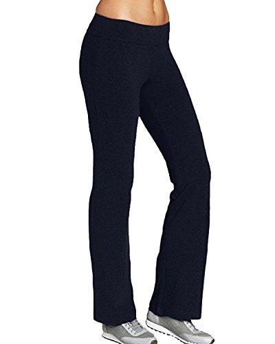 Kidsform Flare yogabroek voor dames, fitnessbroek, hoge taille, lange yogabroek, jazzpants, sportleggings, stretchbroek