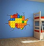 Autocollant Mural Décoratif Briques Effet pour Chambre des Enfants - 150 x 100 cm