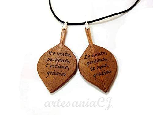 Colgante ho' oponopono leaf: Amazon.es: Handmade
