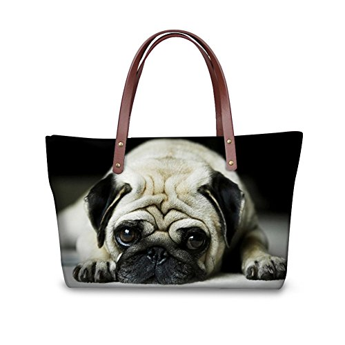Bag Brands 6 for Cute Handbags Women Showudesigns with Color Zipper Yorkie Tote Closures xqOIwC