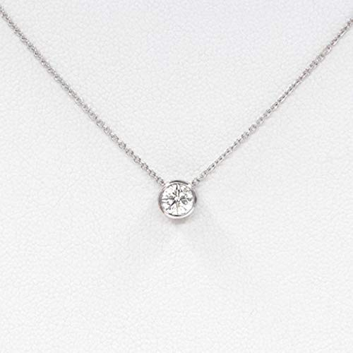 (Fstrend Fashion Rhinestone Necklace Silver Dainty Sparkle Pendant Simple Necklace Jewelry for Women and Girls)