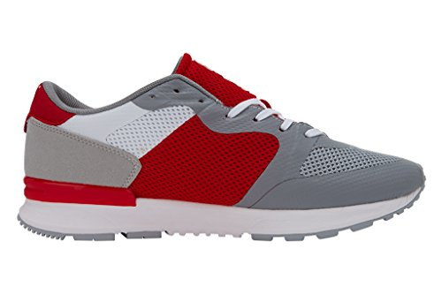 British Knights Unisex Adults' Impact Low-Top Sneakers Grey/White/Red/Navy ZRUgw8l