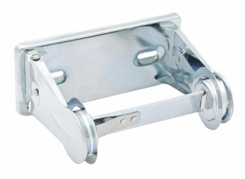 Industrial Toilet Paper Dispenser - Bradley 5054-000000 Heavy Duty Steel Tension Spring Control Single Roll Toilet Tissue Dispenser, 6