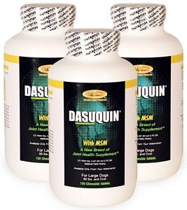3PACK Dasuquin for Large Dogs 60 lbs. over with MSM (450 Chewable Tabs) by Dasuquin