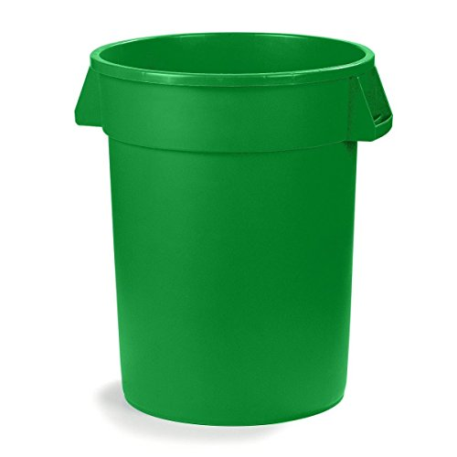 UltraSource Commercial Waste Container, 20 gal, Green (20 Gal Receptacle Lid)