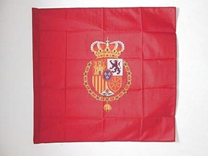 AZ FLAG Bandera del ESTANDARTE del Rey Felipe Vi DE ESPAÑA 90x90cm para Palo - Bandera