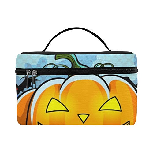 Halloween Theme Pop Art Retro Lunch Box Tote Bag Lunch Holder Insulated Lunch Cooler Bag For Women/men/picnic/boating/beach/fishing/school/work