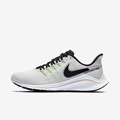 Nike Women's Air Zoom Vomero 14 Running Shoes (10, Grey/Pink/Lime)