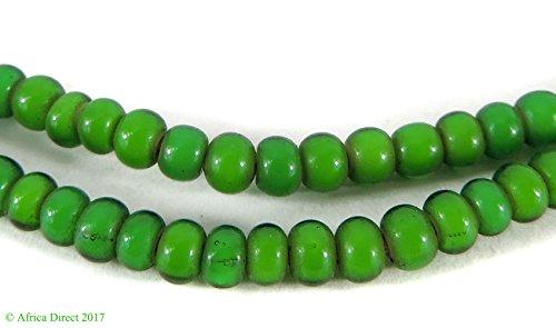 Green Whitehearts Venetian Trade Beads -