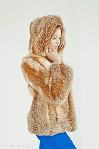 Fox fur Jacket for women Winter coat