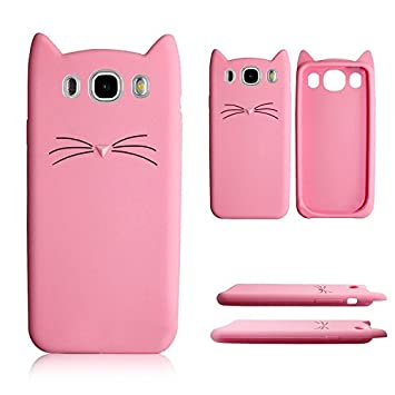 Galaxy J5 2016 TPU Funda,MingKun 3D Cute Cartoon Fundas para Samsung Galaxy J5 2016 J510 Dibujos animados Interesante Barba Gatos Cover Ultra Delgada Suave ...