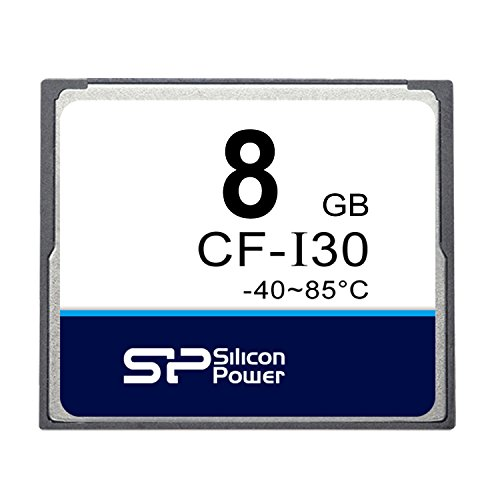 Silicon Power (Industrial Grade) 8GB SLC CompactFlash Card CF-I30 (SP008GBCFI000W712T) by Silicon Power