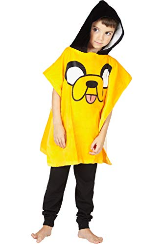 Adventure Time 'Jake' Hooded Bath Beach Swim Poncho Towel, Yellow, 4-7