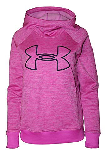 Under Armour Women's Hoodie Active Big Logo Pullover 1318396 (Pink Heather, L)