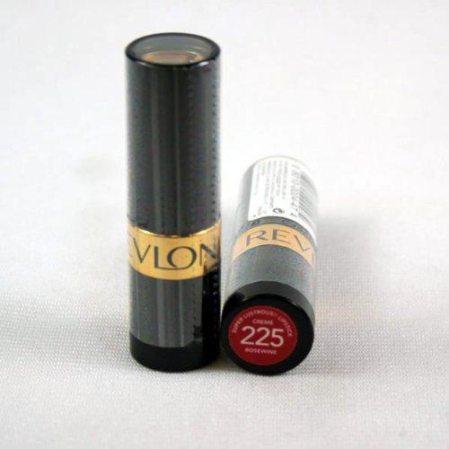 Revlon Super Lustrous Lipstick, Rosewine [225] 0.15 oz (Pack of 2)
