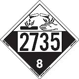 Labelmaster ZEZ42735 UN 2735 Corrosive Hazmat