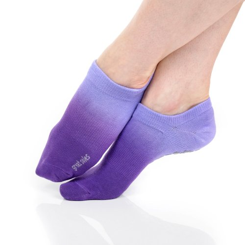 Great Soles Women's Ombre Dyed Grip Socks for Pilates, Yoga, and Barre