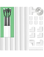 Cable Concealer, PVC Cord Cover, 94.5in Paintable Cord Hider to Hide Wires for TV and Computers in Home Office 6X L15.75in W1.18in H0.67in, CC02 White