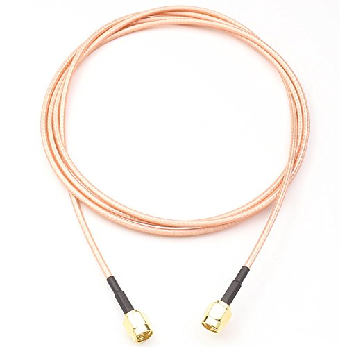 ANHAN SMA Male to SMA Male RF coaxial Coax Assembly RG316 Cable Straight Adapter Antenna Extender Cable Jumper 51inch/4.3Ft