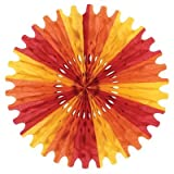 Beistle 12-Pack Decorative Tissue Fan, 25-Inch