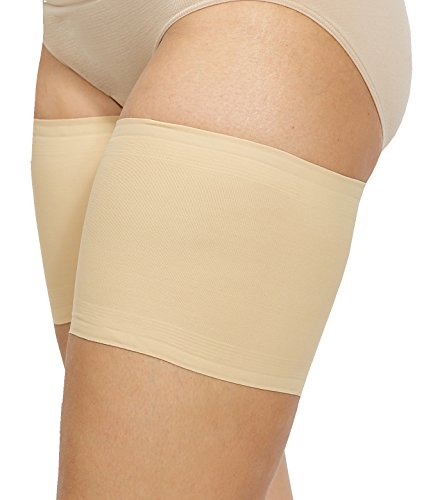 Bandelettes Elastic Anti-Chafing Thigh Bands - Prevent Thigh Chafing - Beige Unisex, Size B