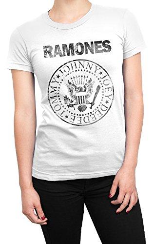 100 Donna Shirt LaMAGLIERIA Black Grunge T Maglietta Print Bianco Cotone Ramones w8wRqgnWE
