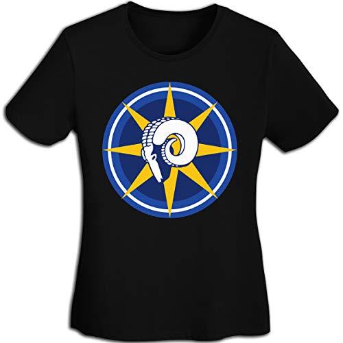 (MiiyarHome Women's T-Shirts St. Louis Rams, Girls Tee Short Sleeves Ladies Teen Jersey Shirt Black XL)