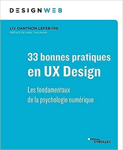Livre 33 bonnes pratiques en UX Design