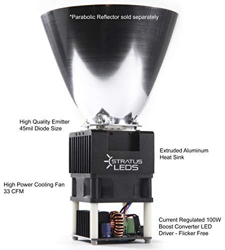High Power 100W LED Spot Light Module DC 12V / 24V - Stratus LEDs (5600K - 12V - 80CRI - 13000 Lumens) by Stratus Productions (Image #6)