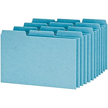 Oxford Index Card Guides with Blank Tabs, 4 x 6 Inches, 1/3 Cut Tabs, Blue, 100 per Box (P413)