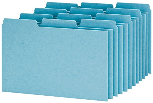 (Oxford Index Card Guides with Blank Tabs, 4 x 6 Inches, 1/3 Cut Tabs, Blue, 100 per Box (P413))